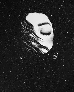 illustration of the infinity of space with sad portraits of women . - illustration combining the infinity of space with sad portraits of women – Çizmeli Kedi – - Art And Illustration, Psychedelic Art, Art Drawings Sketches, Easy Drawings, Arte Game Of Thrones, Art Graphique, Aesthetic Art, Art Girl, Art Inspo