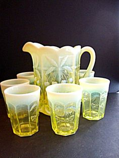 Pitcher Tumbler Set, Cherry Cable Ptn.