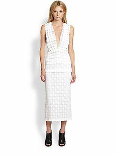 Burberry Prorsum Sleeveless Macram? Lace Dress (saksfifthavenue.com)