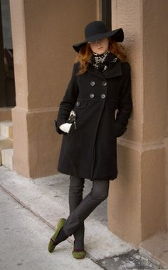 Nice coat and hat