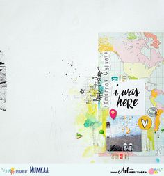 #papercraft #scrapbook #layout. I was here layout by magda bolinska