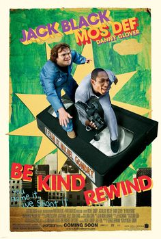 Jerry (Jack Black) and Mike (Mos def) in Be Kind Rewind, Michel Gondry (2008).