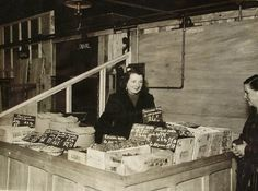 Large Vintage French Photo  Woman Selling Fruit on a by ChicEtChoc, $5.00