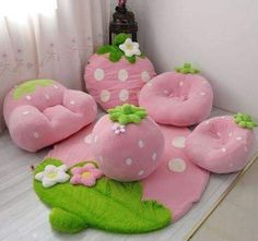 Find images and videos about cute, pink and kawaii on We Heart It - the app to get lost in what you love. Kitchen Cabinets Design Layout, Kids Sofa, Kawaii Room, Flower Pillow, Unique Crochet, Cute Little Baby, Home Decor Furniture, Home Decor Accessories, Decoration