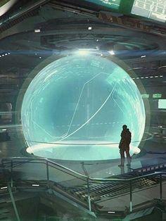 "whodatvillain: "" Another interior for Star Citizen by Jan Urschel "" Star Citizen, Cyberpunk, Arte Sci Fi, Sci Fi Art, Sci Fi Fantasy, Fantasy World, Star Wars, Dreamland, Sci Fi Kunst"