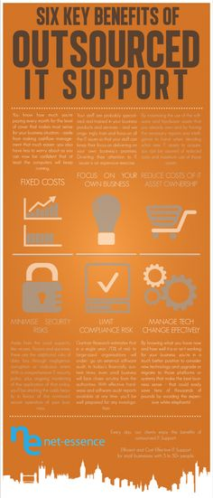 Infographic - Six Key Benefits of Outsourced IT Support