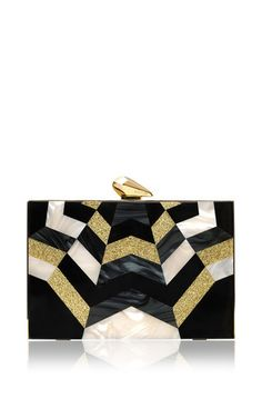 Merrick Geometric Perspex Clutch by KOTUR Now Available on Moda Operandi