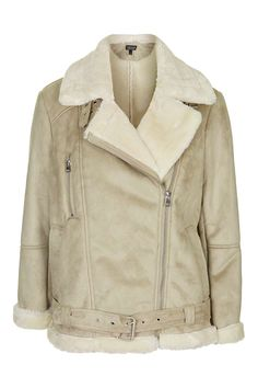 Swap out your puffer coat this winter for a shearling jacket. Here are a few InStyle editor-approved ways to rock a shearling coat this winter. Riders Jacket, Moto Jacket, Fur Jacket, Leather Jacket, Motorcycle Jacket, Aviator Jackets, Shearling Jacket, Brown Jacket, Topshop