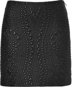 Emilio Pucci Quilted Leather Skirt in Black on shopstyle.com
