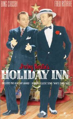 """Holiday Inn [VHS]: Filled with typical mid-Century cinematic humor, the songs were based on the different holidays throughout the year; This was the first film presentation of the song, """"White Christmas"""". Top Christmas Movies, Classic Holiday Movies, Classic Tv, Classic Movies, Old Movies, Great Movies, Universal Studios, Vhs, Bing Crosby"""