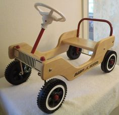 $60 Radio Flyer Little Wooden Push Car Ride Indoors Outdoors |