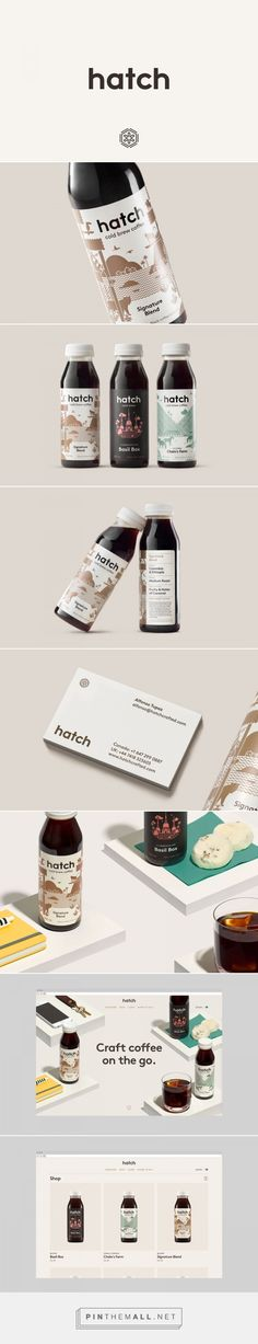 Hatch Cold Brew Coffee label design by Tung - http://www.packagingoftheworld.com/2017/05/hatch-cold-brew-coffee.html