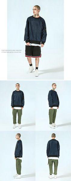 Together Limited Hype Beast Style Crew Neck Sweatshirt In Navy Fashion Wear, Fashion Dresses, Hoodies, Sweatshirts, Street Fashion, Crew Neck Sweatshirt, Military Jacket, Streetwear, Chloe