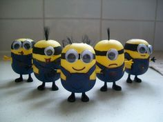 Despicable Me Minion Custom Miniature Figurine made out of Kinder Egg caskets