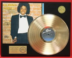 "Michael Jackson ""Off The Wall"" 24k Gold LP Record Award Display Free Ship Gift - http://www.michael-jackson-memorabilia.co.uk/?p=2721"