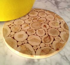Slice O Wood Trivet by loveMiNTYshop on Etsy, $25.00