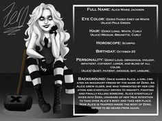 Zero - Character Card by ZombiePunkRat on DeviantArt