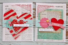 Mish Mash: Valentine Cards using Gossamer Blue February Kits