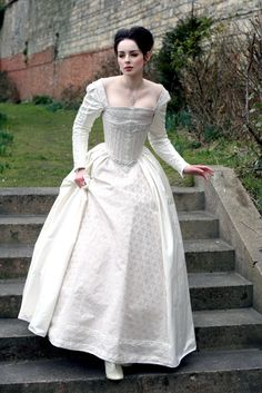 SALE White Silk Elizabethan Wedding Gown With by KatmarenDesigns, £1000.00  Absolutely breathtaking!