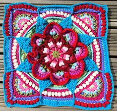 Crochet adventures inspired by the magical colours and Flora of my beloved native homeland, South Africa! Crochet Mandala Pattern, Crochet Quilt, Crochet Blocks, Granny Square Crochet Pattern, Afghan Crochet Patterns, Crochet Squares, Hand Crochet, Granny Squares, Crochet Stitches