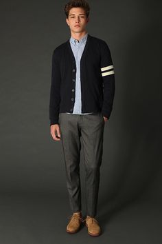 Urban Outfitters- Hawkings McGill Fleece Varsity Cardigan