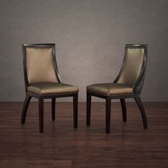 Overstock leather dinning chair pair for $250