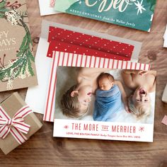 Spread some Christmas cheer with a holiday birth announcement from Minted.com