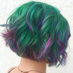 Gem-Inspired Pixie Channel Your Inner Forest Fairy With Succulent Hair Photo Summer Hairstyles, Pretty Hairstyles, Pelo Multicolor, Bright Hair, Mermaid Hair, Grunge Hair, Hair Photo, Rainbow Hair, Purple Hair