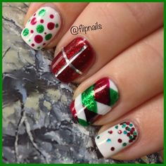 Christmas theme nailart
