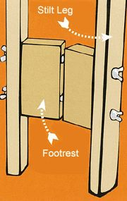 How to make stilts for the kids