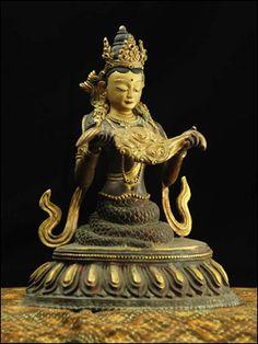 45694-仏教仏像「龍神ナーガ(ナーギィ)」