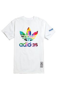 Adidas Kevin Lyons HVW8 T-Shirt - Mens Tee - White