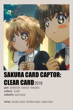 Minimalist Anime Poster Sakura Card Captor Clear Card Animes To Watch, Anime Watch, Sakura Card Captors, Poster Anime, Anime Websites, Simple Anime, Anime Suggestions, Anime Reccomendations, Anime Backgrounds Wallpapers