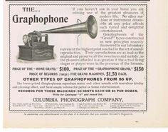 1900 COLUMBIA PHONOGRAPH GRAPHOPHONE HOME GRAND PRINT ADV