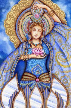 five of mirrors tarot - Ricerca Google Bo Bartlett, Mother Goddess, Divine Mother, Goddess Art, Divine Goddess, Psy Art, Sacred Feminine, Oracle Cards, Gods And Goddesses