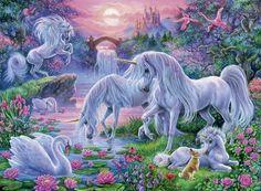Ravensburger Jigsaw Puzzle - Unicorns at Sunset 150 PC
