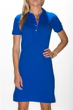 Women's Polo Dress Florida (Blue) by Pennington & Bailes.  Buy it @ ReadyGolf.com