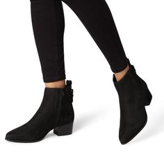 62dcacf0a6d Proudly - BlackPointed Mid Block Heel Ankle Boot £99.00 £79.00 Block Heel Ankle  Boots