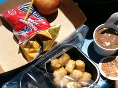 Carmen - This lunch is: Pink slime, tater tots, chocolate frozen dessert