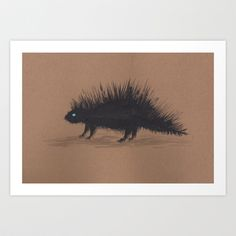 Porcupine Art Print by Chris Winn - $16.64