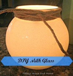 DIY Faux Milk Glass - takes minutes to make this easy craft!
