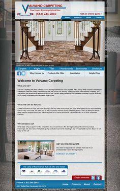 Web Design Project Ideas a website design development project plan checklist template Valvano Carpeting Is A Cincinnati Web Design Project For Ideas And Pixels Flooring Web Design