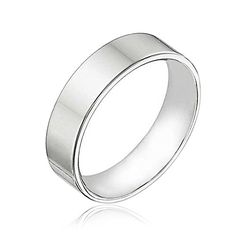 Bling Jewelry Sterling Silver Flat Wedding Band Ring Unisex 6mm ** Click on the image for additional details. We are a participant in the Amazon Services LLC Associates Program, an affiliate advertising program designed to provide a means for us to earn fees by linking to Amazon.com and affiliated sites.