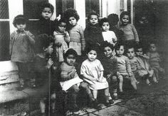 Children in Holnicote House, Somerset, a special orphanage for mixed-race children, 1940s