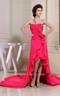 #Valentines #AdoreWe #Dorris Wedding - #Dorris Wedding Sweetheart High-Low Ruched Ruffles and Dress With Flower - AdoreWe.com