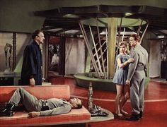 """Forbidden Planet (1956)  Morbius: """"let him be buried with the victims of greed and folly.""""  http://scififilmfiesta.blogspot.com.au/2015/02/forbidden-planet-1956.html"""