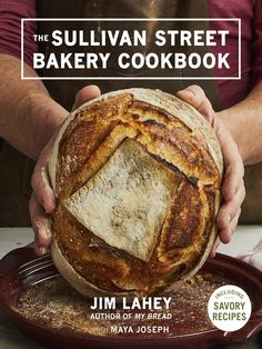 "The Sullivan Street Bakery Cookbook by Jim Lahey. ""Founded in 1994, Sullivan Street Bakery is renowned for its outstanding bread, which graces the tables of New York's most celebrated restaurants. The bread at Sullivan Street Bakery, crackling brown on the outside and light and aromatic on the inside, is inspired by the dark, crusty loaves that James Beard Award-winning baker Jim Lahey discovered in Rome."""