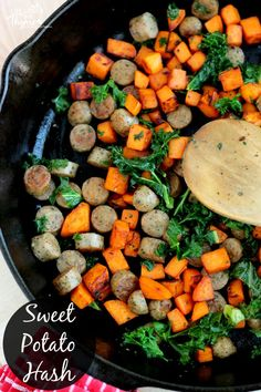 Sweet Potato Hash - This quick and easy dinner recipe is perfect for healthy week night meals.
