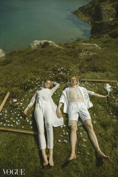 Vogue Italia editorial #white