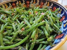 """Marinated Green Bean Salad  This is an old Hungarian recipe called """"Zoldbab Salata Hagymaval"""". It's quite basic, just something I never thought of doin and it's perfect for the heat of the summer time!"""